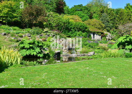A public rock garden in Brighton, Sussex on a spring morning. - Stock Photo