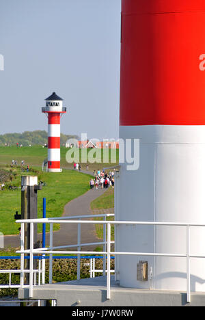 two lighthouses - Stock Photo