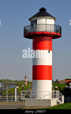 lighthouse in the old country - Stock Photo