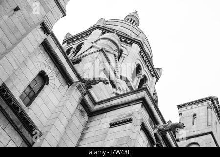 Sacre du Coure Chapel in Paris, France - Stock Photo
