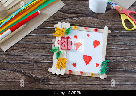 Childrens Gift From Wooden Sticks Photo Frame Birthday Greeting
