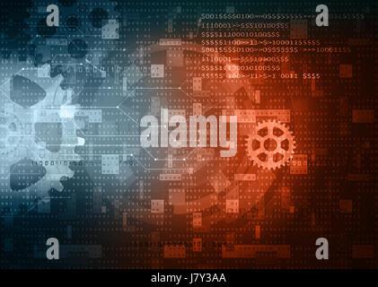 computer data technology background - Stock Photo