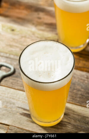 Light Refreshing Summer Craft Beer in a Pint Glass - Stock Photo