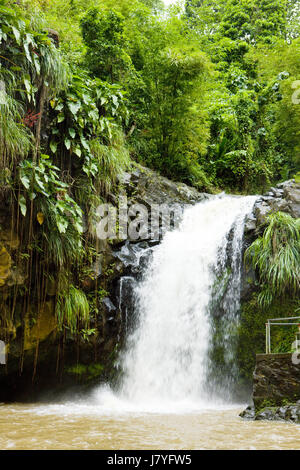 nature landscapes travel stream waterfall america central america outdoor - Stock Photo