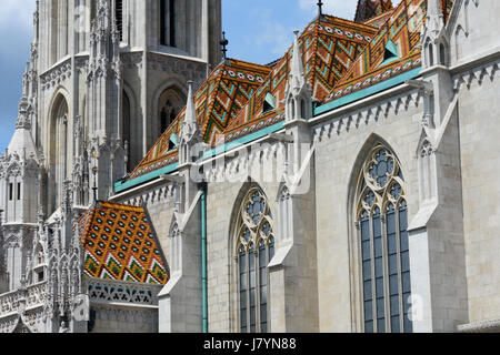 The Matthias Church in Budapest, Hungary. - Stock Photo