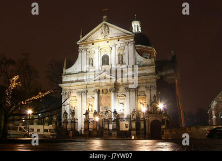Church of Saints Peter and Paul, Krakow old town, Poland - Stock Photo