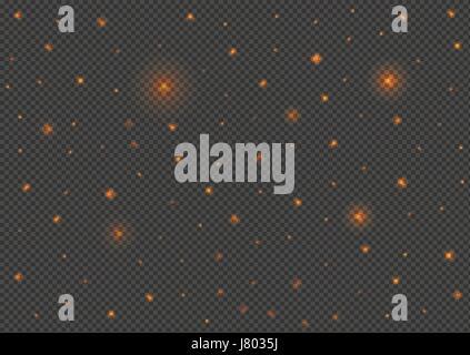 Shining stars background - Stock Photo