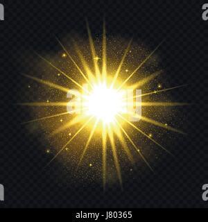 Shining star illustration - Stock Photo