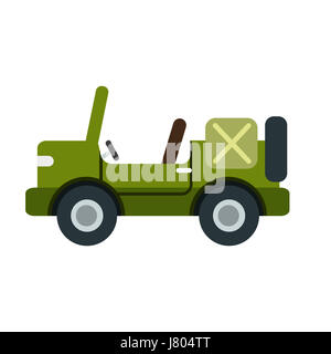 an illustration of an army car on white background - Stock Photo