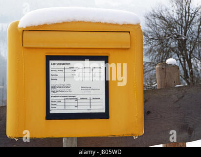 mailbox with snow - mailbox with snow - Stock Photo