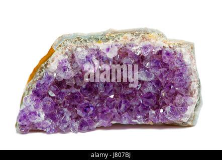 raw fragment of amethyst mineral gem stone - Stock Photo