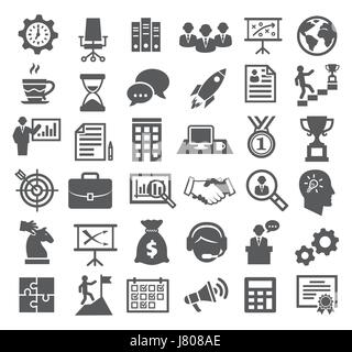 Business icons. Management, marketing, career - Stock Photo