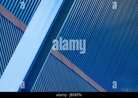 blue build closeup modern modernity industry industrial beam blank european - Stock Photo