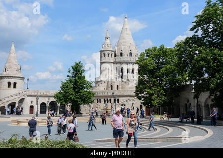 The Fisherman's Bastion in Budapest, Hungary. - Stock Photo