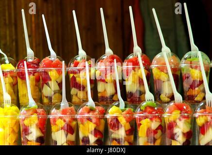progenies fruits fruit strawberry pineapple orange retail shop shop department - Stock Photo