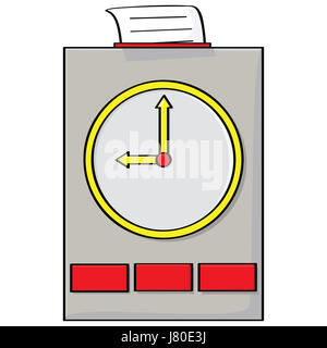 job clock date time time indication monitor leader captain chieftain chief boss - Stock Photo