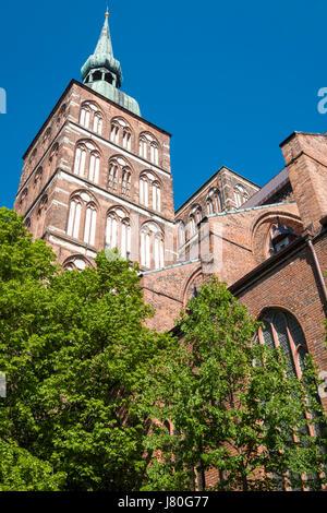 Nikolaikirche, Stralsund, Mecklenburg-Vorpommern, Germany - Stock Photo