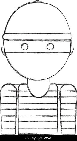 thief avatar character icon - Stock Photo
