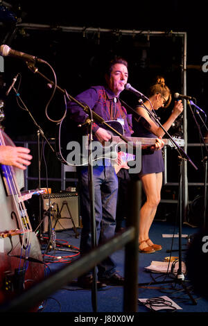 Carter County performing at Christchurch Music Festival 2015 - Stock Photo