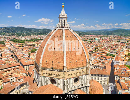 Italy, Tuscany, Florence, Duomo or Cathedral also known as Santa Maria del Fiorel, View of the dome from the cathedral's - Stock Photo