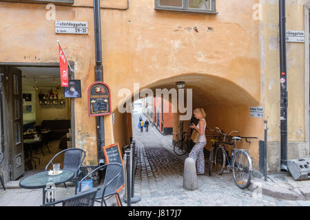 Medieval Old Town in Stockholm. The historic Old Town is a major tourist attraction.