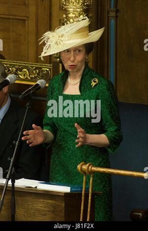 Edinburgh, UK. 26th May, 2017. General Assembly of the Church of Scotland. Day Seven: The Princess Royal delivers - Stock Photo