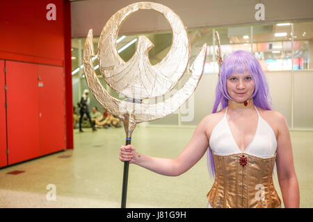 London, UK. 26th May, 2017. MCM London Comic Con 2017 saw hundred of people in customs of their favourites Cosplay - Stock Photo