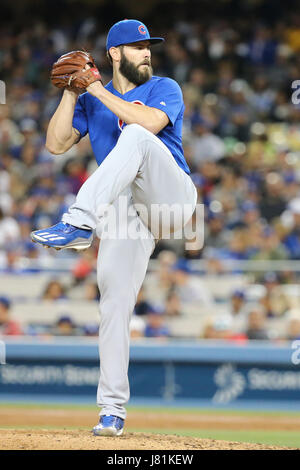 Los Angeles, CA, USA. 26th May, 2017. Chicago Cubs starting pitcher Jake Arrieta #49 makes the start for the Cubs - Stock Photo
