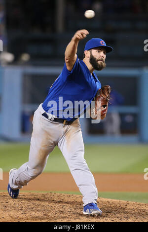 Los Angeles, CA, USA. 26th May, 2017. Chicago Cubs starting pitcher Jake Arrieta #49 makes the star for the Cubs - Stock Photo