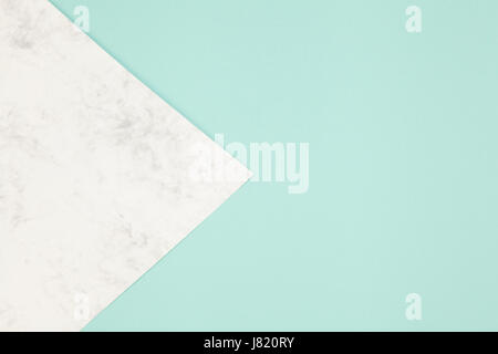 marble and turquoise paper. Abstract photography - Stock Photo