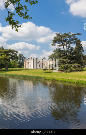The house and garden of Compton Verney art gallery Warwickshire UK - Stock Photo