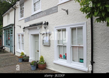 The Checkers Michelin star restaurant and rooms, Broad Street, Montgomery, Montgomeryshire, Powys, Wales, Great - Stock Photo