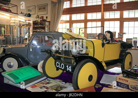 Cloverlands Model Car Museum, Arthur Street, Montgomery, Montgomeryshire, Powys, Wales, Great Britain, United Kingdom, - Stock Photo