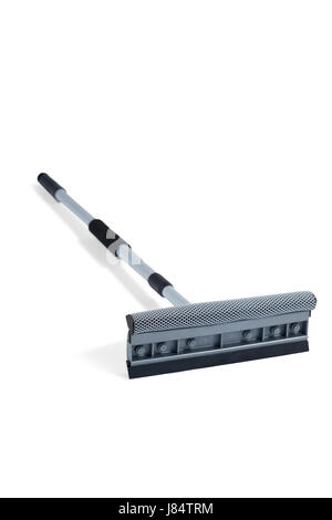 Squeegee mop on a white background - Stock Photo