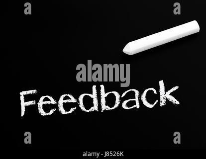 feedback - business concept - Stock Photo