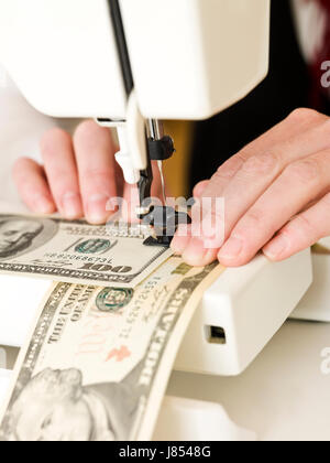 dollar dollars macro close-up macro admission close up view closeup currency - Stock Photo