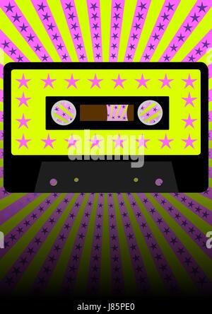 party celebration retro eighties backdrop background disco shine shines bright - Stock Photo
