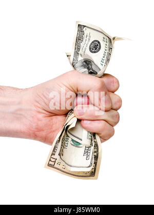 dollar dollars female currency fist crime wealth business dealings deal - Stock Photo