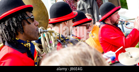 Eastbourne, East Sussex, United Kingdom. 27th May, 2017. Thousands line the streets to enjoy the May Day bank holiday - Stock Photo