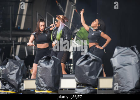 Southampton, Hampshire, UK. 27thth May, 2017. Stefflon Don performs on the main stage. Common People Music Festival - Stock Photo