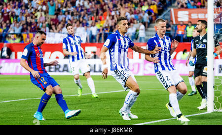 Madrid, Spain. 27th May, 2017. Players during the football match of Final of Spanish King's Cup between FC Barcelona - Stock Photo