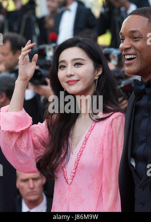 Beijing, France. 23rd May, 2017. Jury member of the 70th Cannes International Film Festival, Chinese actress Fan - Stock Photo