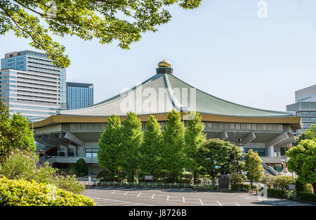 Nihon Budokan (Nippon Budokan) indoor arena inside Kitanomaru Park, Chiyoda, Tokyo, Japan|  Nihon Budokan (Nippon - Stock Photo