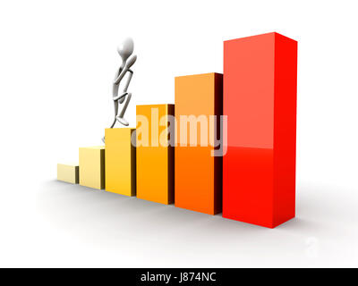 walk, go, going, walking, presentation, successful, succesful, chart, graphic, - Stock Photo