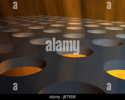 industrial, lights, stage, floor, blue, order, colour, horizon, graphic, - Stock Photo