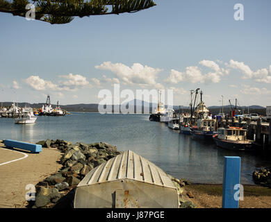 Eden Harbour, New South Wales, Australia, is the 3rd deepest port in the Southern Hemisphere - Stock Photo