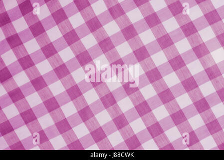 pink checkered tablecloth background texture - Stock Photo