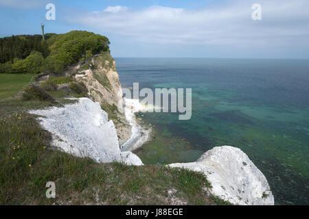 Møns Klint chalk cliffs, Møn Island, Denmark, Europe