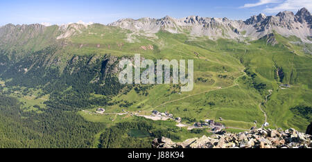 dolomites, alps, summer, summerly, valley, landscape, scenery, countryside, - Stock Photo