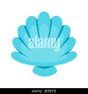 Scallop seashell Vector. - Stock Photo